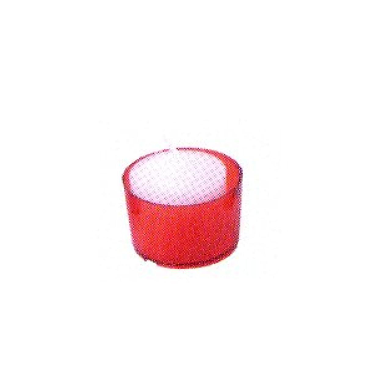 菊縞模様の協力的カメヤマキャンドル カラークリアカップ ボーティブ6 レッド 24個入