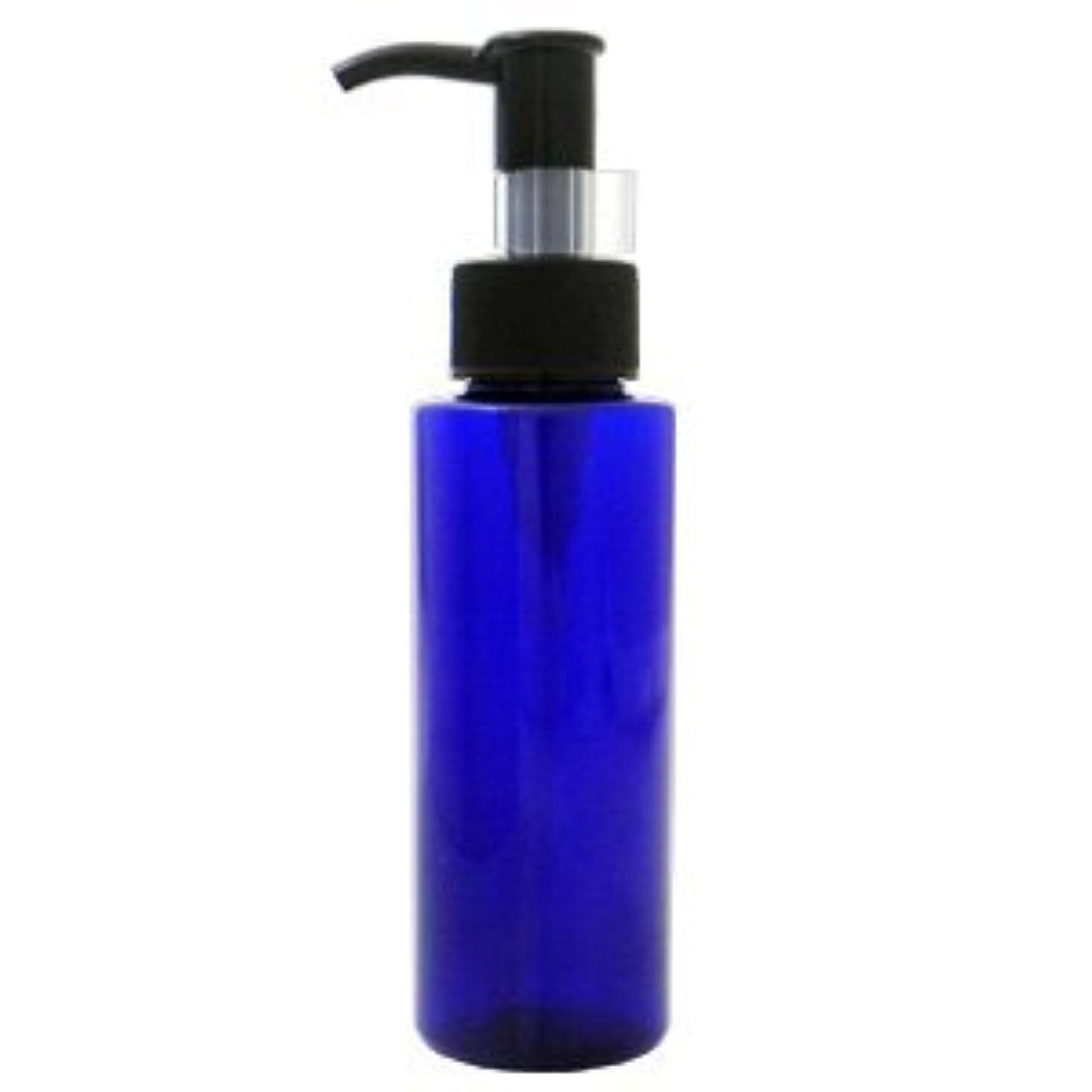 ポテト雄弁家相対的PETボトル ポンプ コバルトブルー (青) 100ml