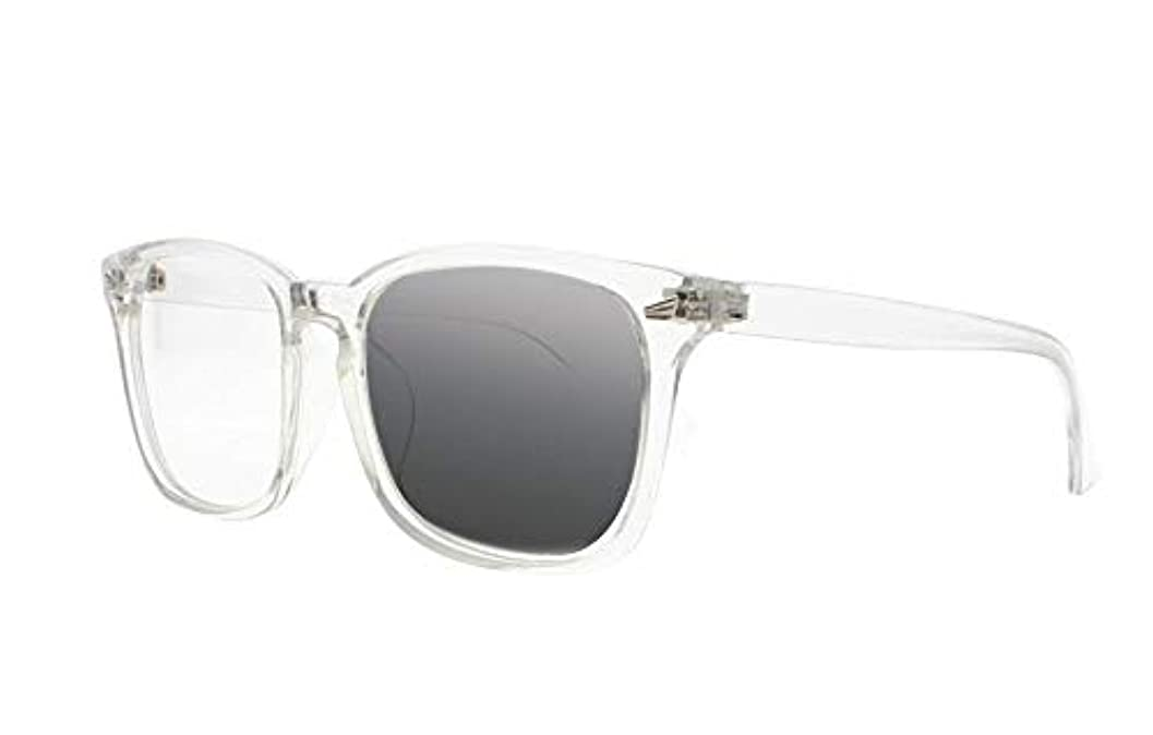 FidgetGear ビンテージトランジションフォトクロミックスクエアサン老眼鏡オタクオタクサングラス クリア