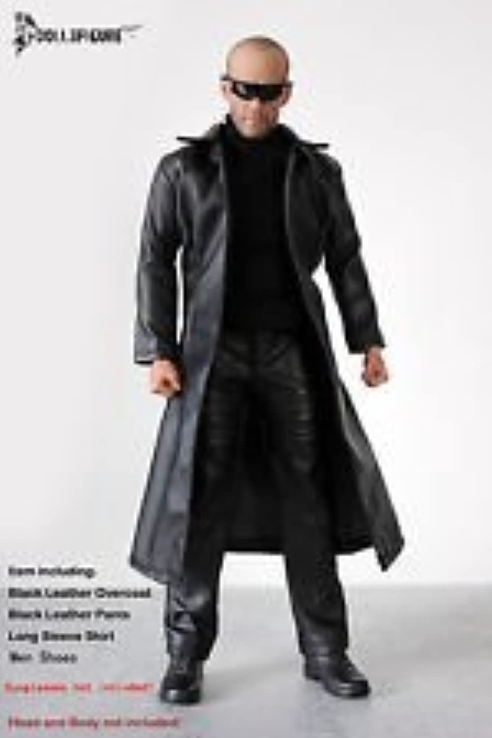 男性用レザーオーバーコートセット Artcreator_BM FT014 DOLLSFIGURE 1/6 Scale Action Figure Clothing (Long coat,shirt,pants) set シューズがジョイントタイプ