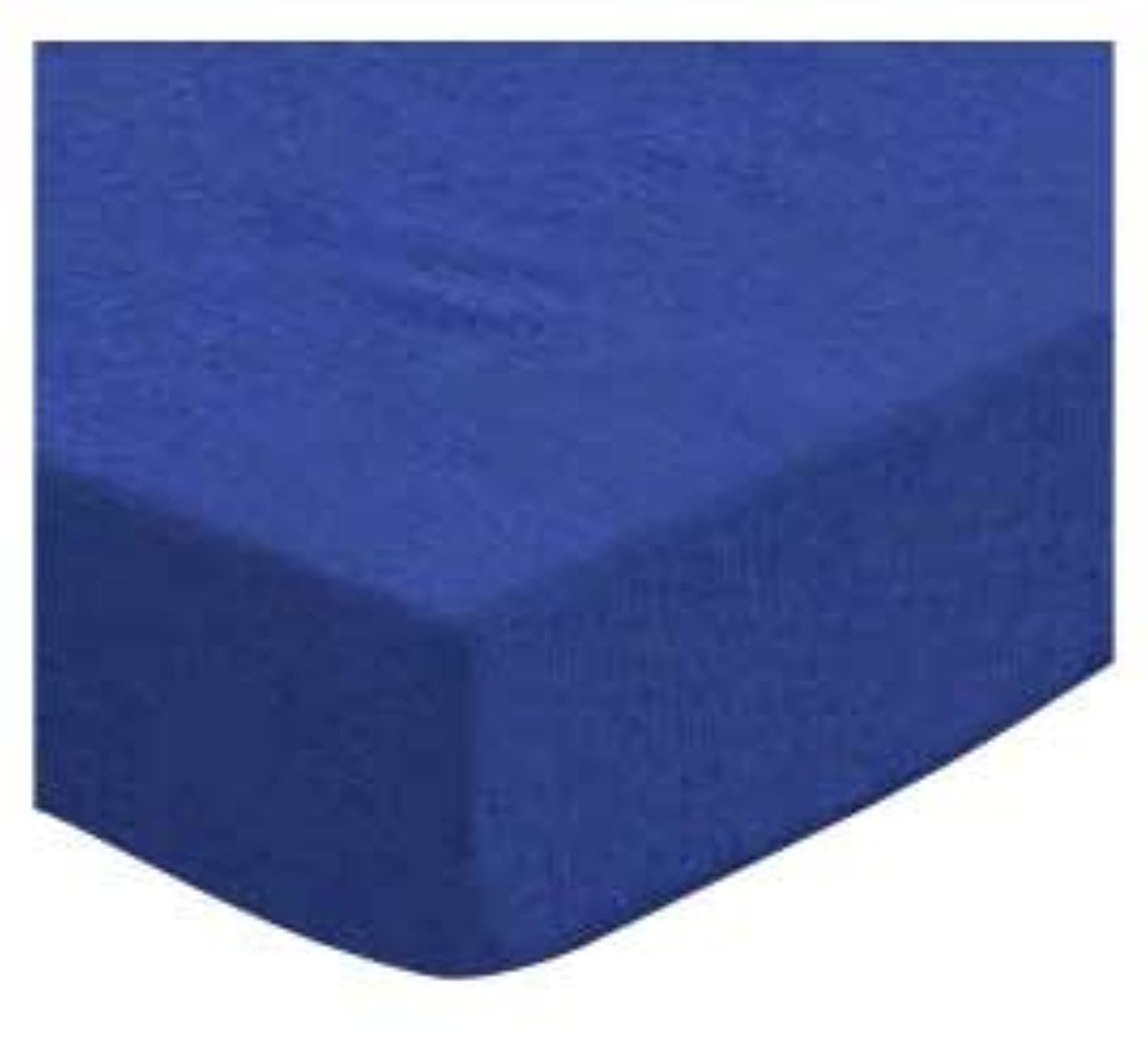 SheetWorld Fitted Cradle Sheet - Flannel - Royal Blue - Made In USA by sheetworld
