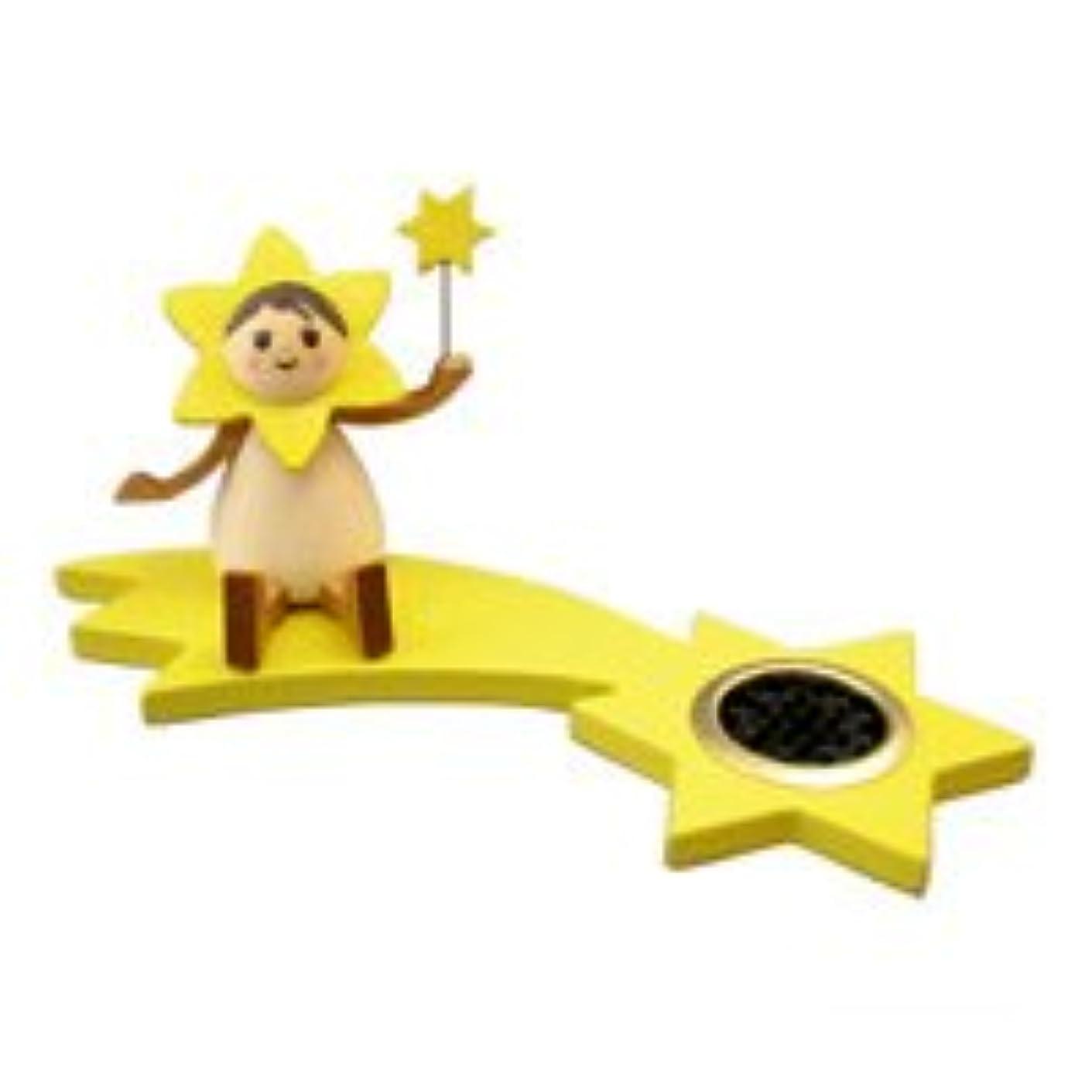 ぬれた革新囲まれたインセンススタンド(香皿) 星の妖精 スター(座り) 【クーネルト】