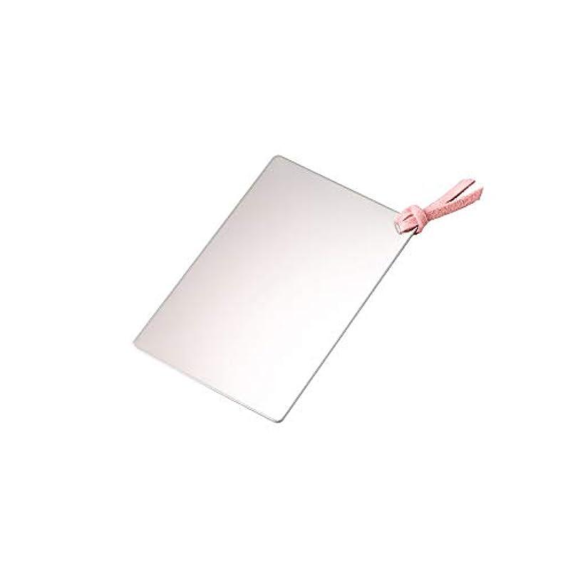 ストレッチ感謝祭有彩色のステンレスカードミラー ピンク SC-01P