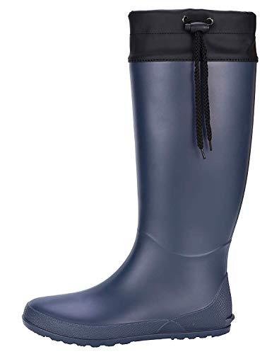 [Smiry] 長靴 レインブーツ レディース カバー付き 防水 超軽量 シューズ