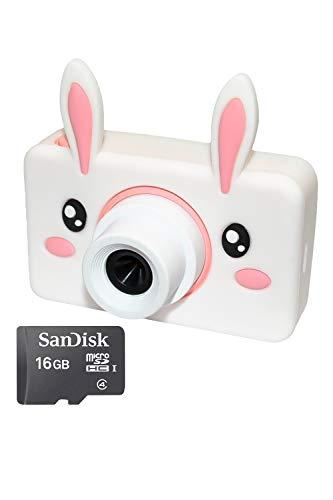 【キッズカメラ CDC-L03】子供用カメラ 子供用デジタルカメラ トイカメラ 2400万画素 2.0インチIPS画面 4倍ズーム プレゼント 日本語取扱説明書16GB SDカード付き (うさぎ(2400万画素))