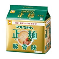 マルちゃん 正麺 豚骨味 5食パック (1セット6個入)