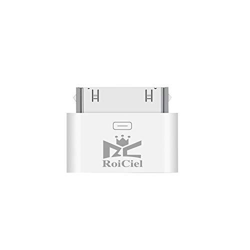 RoiCiel ロイシエル[LightningからDOCKへ変換コネクタ ] Lightning(メス)-iDock(オス) iPhoneX/8/7/6/5からiphone4Sへ変換コネクタ 充電器 充電アダプター 8pin Lightning DOCK iphone6/iphone5iPad mini iPod 対応RC-DL70-W