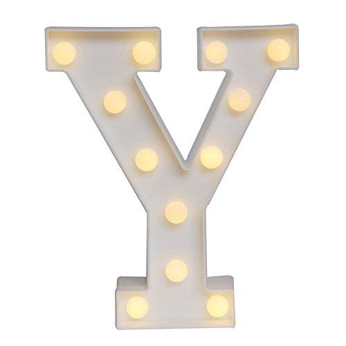 LED イルミネーション イニシャルライト アルファベットライト ホームイベント インテリア ギフト (Y)