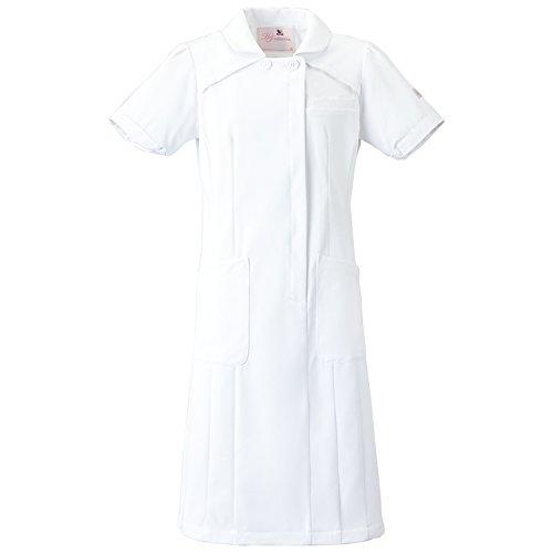 (FOLK) フォーク ワコール レディス ワンピース 女性用 診察衣 白衣 ナース服 (HI107) ホワイト 3L