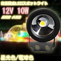 完全防水 10W DC 12V LED プロジェクター ledスポットライト LEDフォグランプ 800-900LM ハイパワー 電球色  ライトアップ 各種 照明