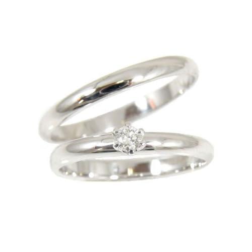 [アトラス] Atrus 結婚指輪 ペアリング ダイヤモンド 0.10ct プラチナ900 リング 指輪 マリッジリング 人気