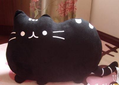 [해외]둥 그런 고양이 고 반발 고양이 쿠션 (크로)/Maruko Nyanko High Fidelity Cat Cushion (Black)