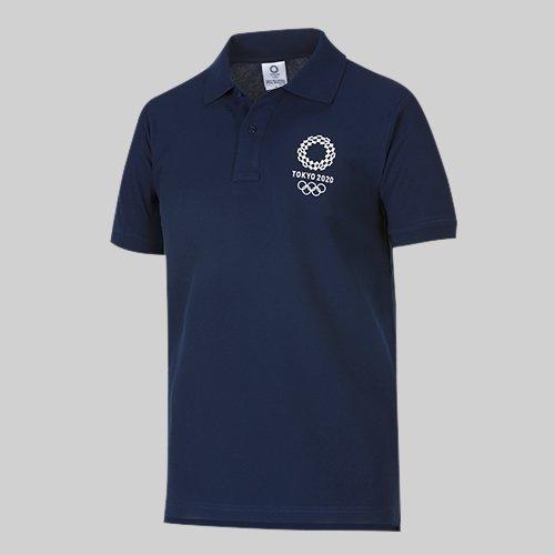 東京2020 オリンピック エンブレム ポロシャツ ネイビー (XL)