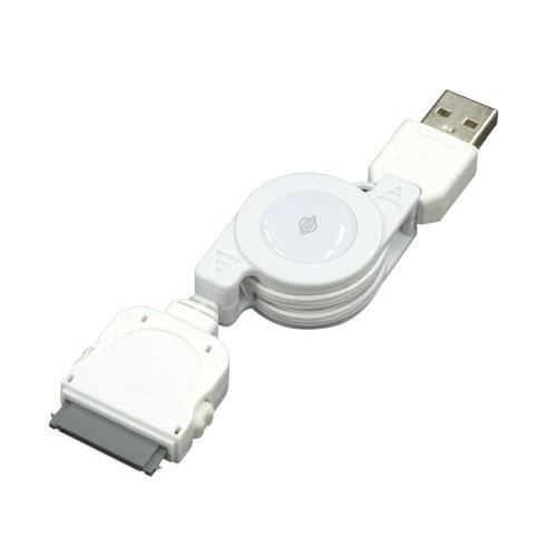 PLANEX iPod・アイフォンUSB転送・充電ケーブル ホワイト (iPod nano/iPod touch/iPhone 3G/3GS/4/4s対応) BN-IPOD2-CW