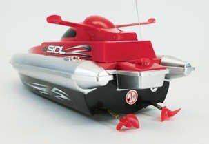 HT◇安全ストップ機能付スピードボート型ラジコン船「MARINE WARSHIPS」レッド