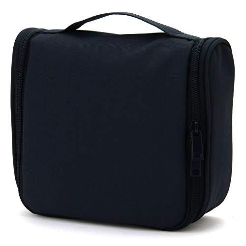 無印良品 ポリエステル吊して使える洗面用具ケース 黒・約16×19×6cm