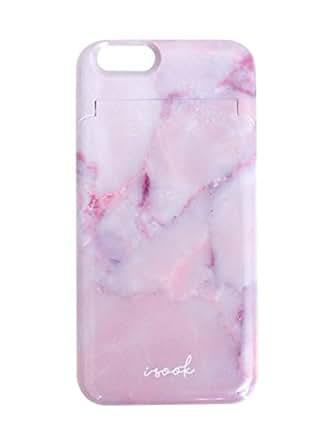 I-SOOK(アイスー)<6/6s専用>PINK STONE カードケース&ミラー付きiPhoneケース ピンク F