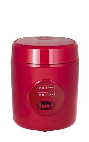 山善 炊飯器 0.5~1.5合 小型 ミニ ライスクッカーレッド YJE-M150(R)