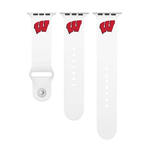University of Wisconsin BadgersシリコンスポーツバンドFits on Apple Watch C38-133C1-SW1