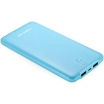Poweradd モバイルバッテリー 10000mAh ポータブル充電器 2.4A出力 iPhone / iPad / iPod / Nexus / Xperia等対応(ブルー)