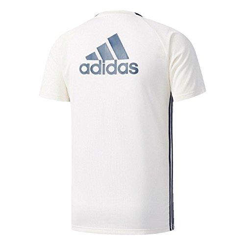 アディダス マンチェスターユナイテッドFC トレーニング ジャージー チョークホワイト/カレッジネイビー/ミネラルブルーS16 J/L