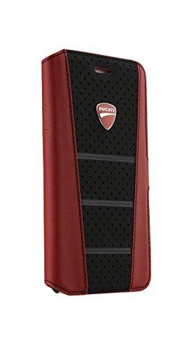 DUCATI(ドゥカティiPhone 6本革製手帳型ケース(カードホルダー付き)DU-FCIP6-SB/D1-RD