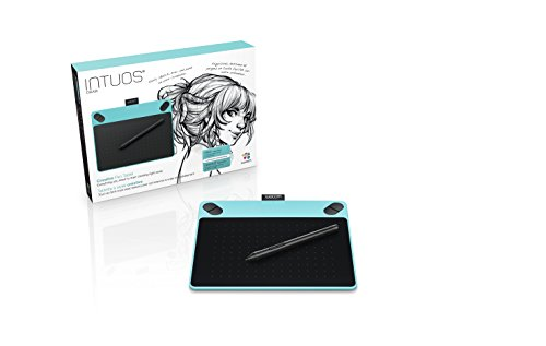 ワコム ペンタブレット Intuos Draw ペン入力専用 お絵描き入門モデル Sサイズ ミントブルー CTL-490/B0