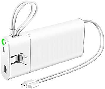 最新版 モバイルバッテリー 大容量 24800mAh 急速充電 スマホ充電器 2ケーブル内蔵(Lightning+Type-Cケーブル内蔵) +Type-C入出力+USBポート 4台同時充電 薄型 LED残量表示 持ち運び便利 地震/災害/停電/出張/アウトドア活動などの必携品 (Micro USB+Lightningケーブル内蔵)
