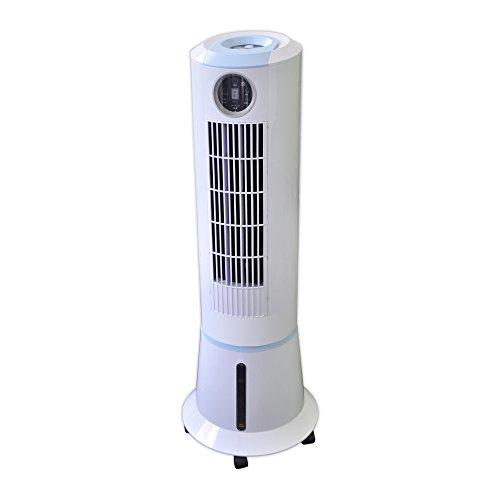 スリーアップ スリムタワー冷風扇(抗菌カートリッジ付)冷風機 スポットクーラー タワー冷風扇 冷風扇風機 風量3段階切替・オフタイマー・自動首振り・マイナスイオン