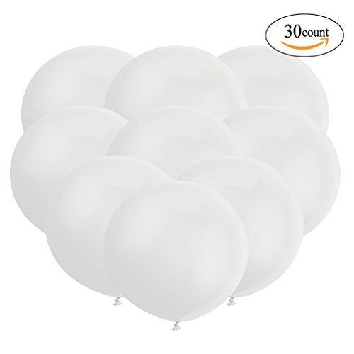 大なバルーン18インチの円形形状 ラテックス風船 ビッグバルーン風船 パーティーの装飾 大型の風船 30個入 白