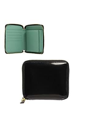 (コムデギャルソン) COMME des GARCONS ラウンドファスナー二つ折り財布(小銭入れ付) GLOSSY BLACK SA2100FL BLACK/BLUE [並行輸入品]
