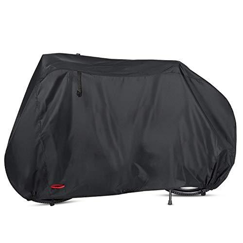 AngLink 自転車カバー サイクルカバー厚手210D 破れにくい 防水撥水加工UVカット 風飛び防止 防塵 耐熱 鍵穴盗難防止 収納袋付き 29インチまで対応