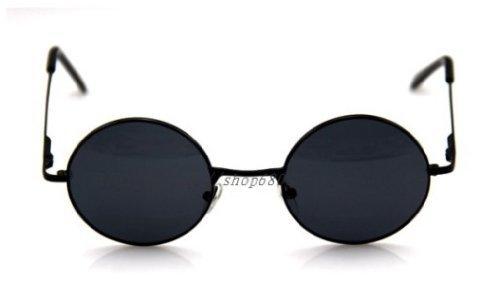 ジョンレノ オノ・ヨーコ 風 丸眼鏡 コスチューム用小物 ブラック