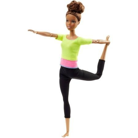 Barbie Made To Move Doll, African American Colorful Top To Highlight Her Dynamic Pose-Ability by Barbie [並行輸入品]