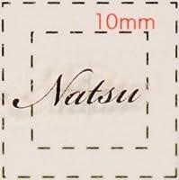 名前 ネイルシール【アルファベット・イニシャル】デザイン( Natsu なつ)1シート6枚入