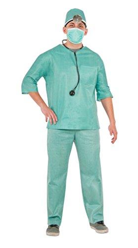 病院 医者の服 ER 緊急救命室 ドクター (男性用)ハロウィン ONEサイズ