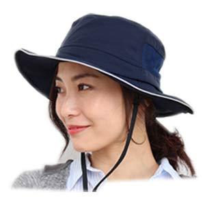 [ドリームハッツ] 帽子 撥水 サファリハット レディース 折りたたみ uvカット帽子 100% 大きいサイズ Lサイズ ベージュ