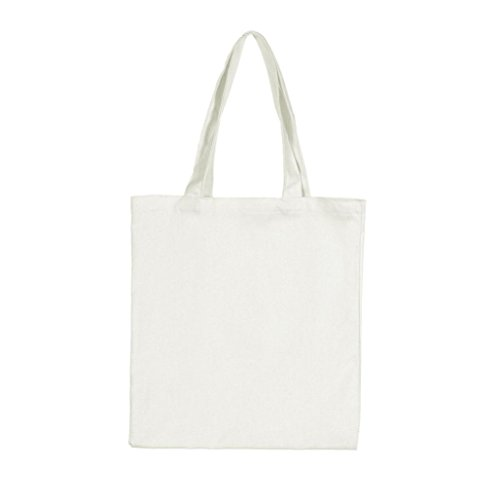 gbsellファッションレディースガールズキャンバスショッピングハンドバッグショルダートートバッグ カラー: ホワイト