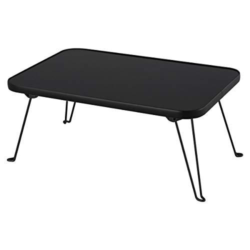 ぼん家具 テーブル 折りたたみ おしゃれ 鏡面 折り畳みテーブル ローテーブル 木製 机 ミニ ブラック