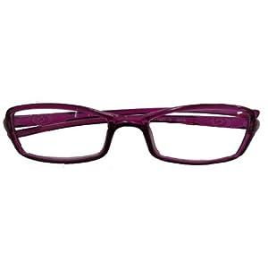 ワームス シニアグラス WT-1027-3 パープル +2.00(老眼鏡)