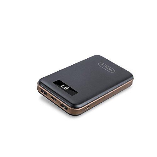 「Nintendo Switch ゲーム機に最適用バッテリー」iMuto 超大容量 16750mAh USB-C Type-C 大容量 モバイルバッテリー 3 ポート搭載 軽量 薄型 コンパクト 急速充電 スマートデジタルスクリーン iPhone 7 7 Plus 6s / 6s Plus / 6 / 6 Plus / 5s / 5c / 5 / iPad / Android / Xperia , Nexus 6P 5X ,各種スマホ / タブレット / Wi-Fiルータ 等対応 カラー:ブラック