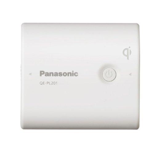 パナソニック モバイルバッテリー 5,400mAh 無接点充電(Qi)対応 USBモバイル電源 ホワイト QE-PL201-W