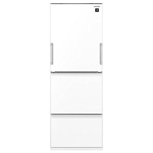 シャープ プラズマクラスター搭載 冷蔵庫 356L(幅60cm) どっちもドア ピュアホワイト SJ-GW36D-W