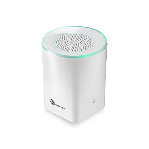 TaoTronics Bluetooth スピーカー 4.0 ポータブルスピーカー マイク内臓 LEDライト搭載 A2DP対応 連続再生時間最大6時間 (ホワイト)TT-SK05