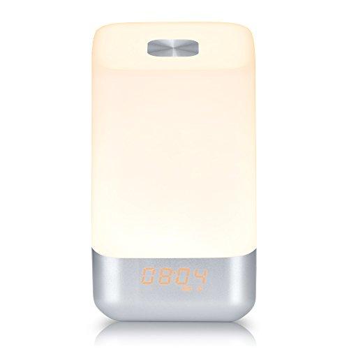 【光で起床!目覚ましライト】 YABAE テーブルランプ 3段階調光 タッチセンサー式 1600色変換 ムードライト 24連続照明 常夜灯 USB充電 20畳 プレゼント MY-3