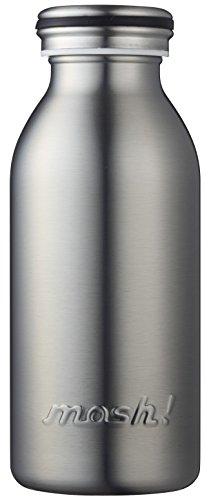 RoomClip商品情報 - 水筒 真空断熱 スクリュー式  マグ ボトル 0.35L シルバー mosh! (モッシュ! )
