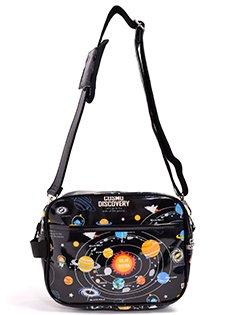 いつも一緒のmy通園バッグ 太陽系惑星とコスモプラネタリウム(ブラック) 日本製 N0531700 入園グッズ 幼稚園バッグ 保育園バッグ ショルダーバッグ