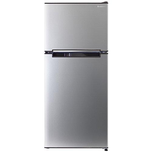 エスキュービズム 2ドア冷蔵庫 WR-2118SL シルバー 118L WR-2118SL
