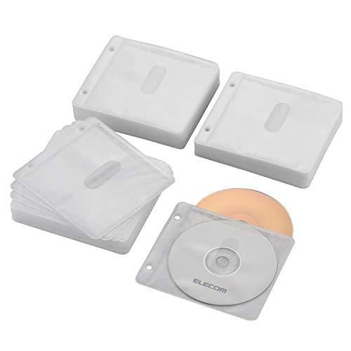 『エレコム DVD CDケース 不織布 両面収納 2穴付 120枚入 240枚収納可 ホワイト CCD-NBWB240WH』のトップ画像