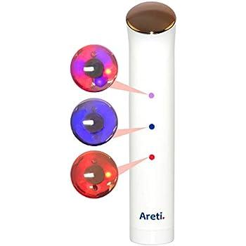Areti【日本 本社 正規品】美顔器 LED 光エステ ピンクゴールド 1年保証 イオン導入器 ほうれい線 改善
